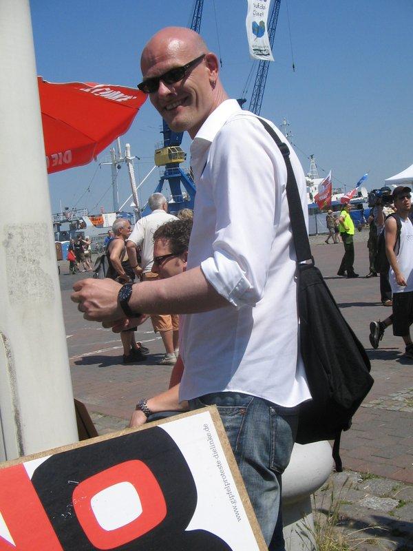 Bei den G8-Gipfelprotesten Heiligendamm 2007 in Rostock.